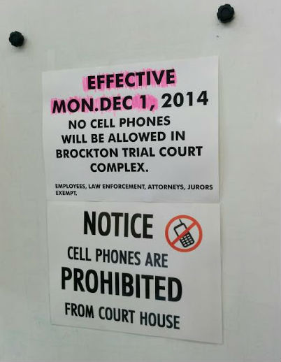 No Cell Phone in Court? Banned in Brockton, MA